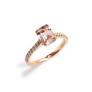 MICHAEL O'DWYER Morganite Roseanne Ring €2640 from Stonechat