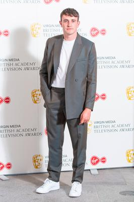 Paul Mescal arrives for the Virgin Media BAFTA TV awards at the TV Centre, Wood Lane, London. Photo credit: Dominic Lipinski/PA Wire