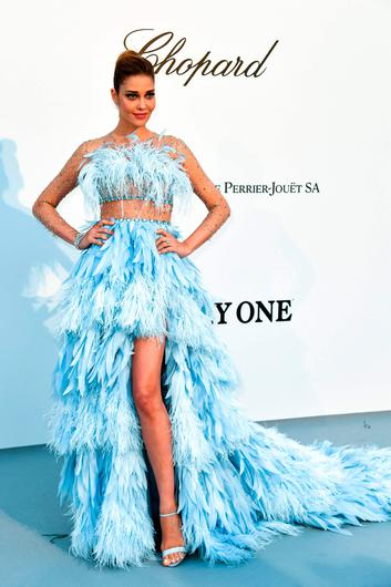 Brazilian model Ana Beatriz Barros arrives on May 23, 2019 for the amfAR 26th Annual Cinema Against AIDS gala at the Hotel du Cap-Eden-Roc in Cap d'Antibes, southern France, on the sidelines of the 72nd Cannes Film Festival. (Photo by Alberto PIZZOLI / AFP)