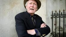 Actor Vincent Dowling at Dublin's Customs House. Photo: Tony Gavin