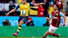 Arsenal's Alexis Sanchez in action with Burnley's George Boyd Reuters / Jason Cairnduff