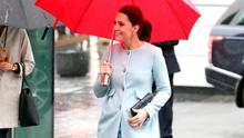 Catherine, Duchess of Cambridge arrives at Kings College during a visit to the Maurice Wohl Clinical Neuroscience Institute on January 24, 2018 in London, England