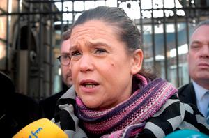 'PAC member Mary Lou McDonald, who, like her leader Gerry Adams, sneers on the fence claiming corruption and cover-ups at every turn while ignoring the vast amount of corruption and cover-ups (including murder, child abuse and racketeering) in the republican family.' Photo: Tom Burke