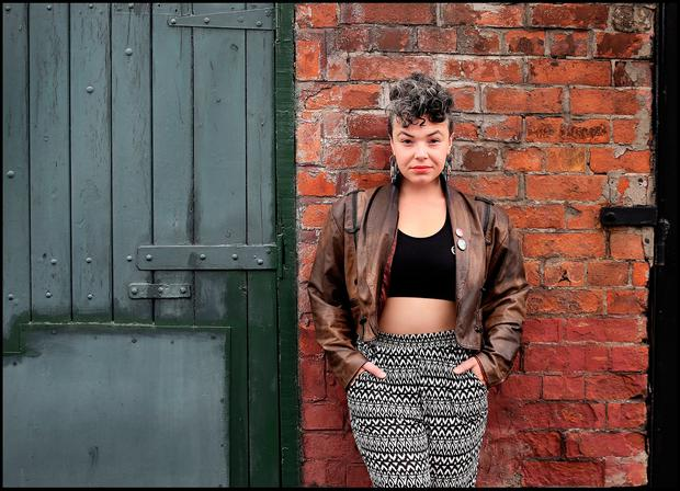 Vocalist and songwriter Jess Kav from the band 'Barq'. Photo: Steve Humphreys