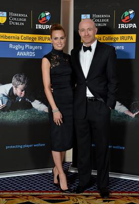 Former Leinster and Ireland wing Denis Hickie and Leah Baker in attendance at the Hibernia College IRUPA Rugby Player Awards 2013. Burlington Hotel, Dublin. Picture credit: Brendan Moran / SPORTSFILE
