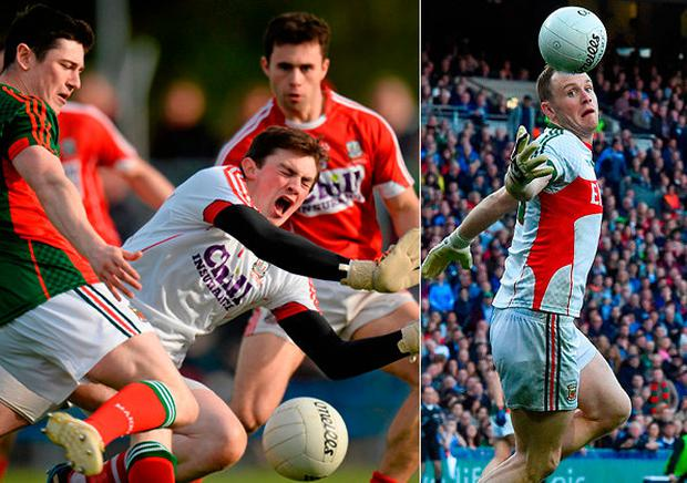 Cork's Anthony Casey and (right) Rob Hennelly