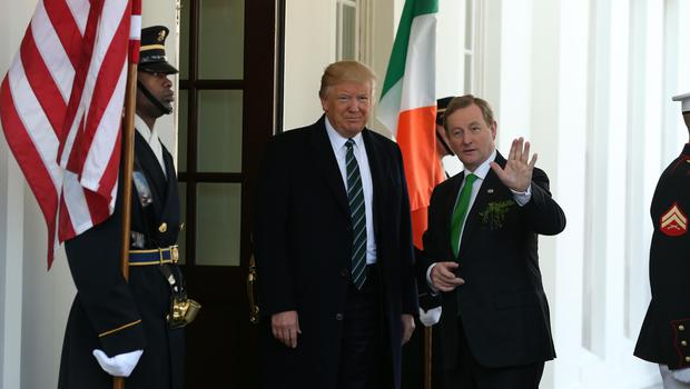Enda Kenny meets with President Trump for the first time
