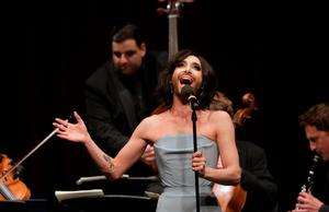 Conchita Wurst of Austria on stage during the 'Pop meets Opera' Matinee at the Vienna State Opera in Vienna, May 17, 2015. FOR EDITORIAL USE ONLY ON PURPOSE OF CURRENT REPORTING ON THE EVENT. NOT FOR SALE FOR MARKETING OR ADVERTISING CAMPAIGNS.