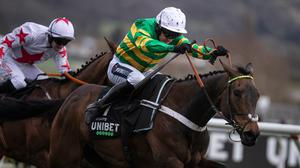 Epatante winning the Champion Hurdle. Pic: racingpost.com