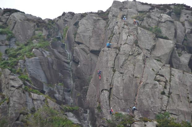 The woman had been rock climbing in Glendalough, Co Wicklow. Picture: Philip Grant