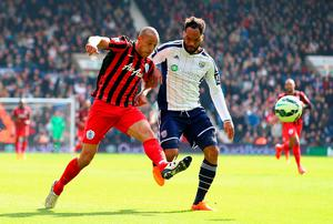 Bobby Zamora scores QPR's third goal against West Brom