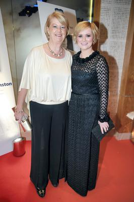 Cecelia Ahern and her mother Miriam at the Bord Gais Energy Irish Book Awards at the Double Tree by Hilton Hotel in Dublin. Picture:Arthur Carron