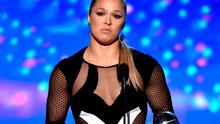 UFC fighter Ronda Rousey accepts the Best Female Athlete award onstage during The 2015 ESPYS at Microsoft Theater