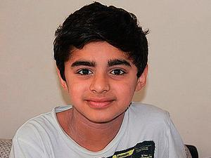 Amar Atwal, 12, who was killed in an accident while not wearing a seat belt Credit: West Midlands Police/PA Wire