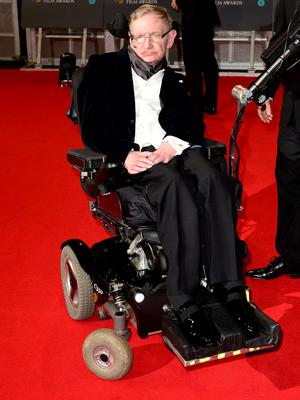 Stephen Hawking attends the EE British Academy Film Awards at the Royal Opera House, Bow Street in London.   Dominic Lipinski/PA Wire