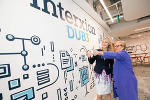 Tanya Duncan, Managing Director of Interxion Ireland;and Tánaiste and Minister for Justice and Equality, Frances Fitzgerald TD;  at the launch of Interxion's new €28 million data centre,DUB3  Pic:Naoise Culhane/no fee