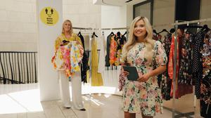 On hand to help: Brown Thomas personal shopper Tori Delahoyde (right) and Katie McGrath, head of personal shopping