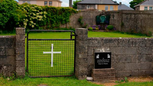 The site of a mass grave for children who died in the Tuam mother and baby home, Galway. Photo: Niall Carson/PA Wire