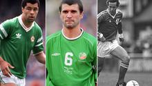 (L-R) Paul McGrath, Roy Keane and Liam Brady are candidates for Ireland's greatest team of the past 40 years