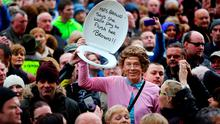 Water charge protest on Dublin's O'Connell street earlier this month. Picture: Gerry Mooney