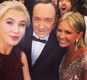 Jared Leto photobombed Ireland Baldwin and Kevin Spacey