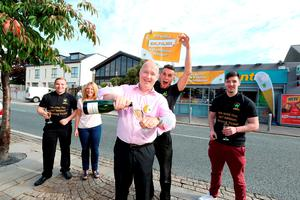 Dave Whelan, owner, Centra and Simon Collier, shop manager pictured at the celebrations. Pic: Mac Innes Photograph