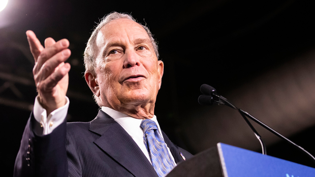 Controversy: Michael Bloomberg at a rally in Nashville