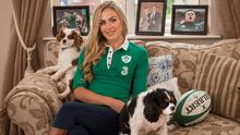 'Players gave their all': Jean-Marié Stander at home with dogs Abbey and George. Photo: Mark Condren