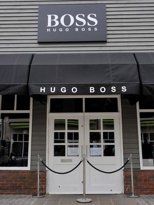 The Hugo Boss store at the Bicester shopping village in Pingle Drive Credit: Ben Birchall/PA Wire