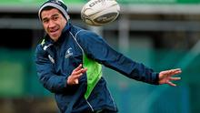 Connacht's Mils Muliaina in action during squad training