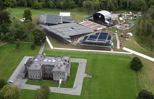 House band: The stage is set up for the Westlife performance at Lissadell House in 2010. Picture: James Connolly