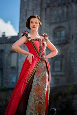 Bringing history to life: Model Karen dresses in period costume to celebrate Medieval Week which takes place in Kilkenny until April 26th