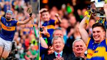 Tipperary captain Brendan Maher lifts the Liam MacCarthy cup after the GAA Hurling All-Ireland Senior Championship Final match between Kilkenny and Tipperary