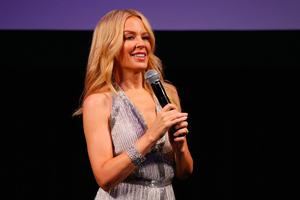 Kylie Minogue speaks during the opening of the Kylie on Stage Exhibition at Melbourne Arts Centre on September 20, 2016 in Melbourne, Australia.  (Photo by Michael Dodge/Getty Images)