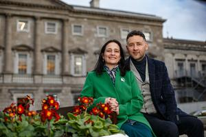 Catherine Martin and her husband Francis Noel Duffy. Picture: Mark Condren
