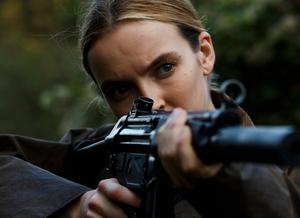 In her sights: Jodie Comer in 'Killing Eve'