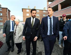 Dismissive: Taoiseach Leo Varadkar was forced to deny his Housing Minister Eoghan Murphy was up to something. Photo: Frank McGrath