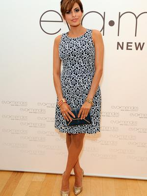 Actress Eva Mendes and New York & Company launch the Eva Mendes for NY&C Spring 2014 collection with a pop-up shop at The Beverly Center on March 18, 2014 in Los Angeles, California.  (Photo by Angela Weiss/Getty Images for New York & Company)