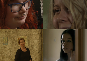 Four people who appear in the documentary 'Schizophrenia: The Voices in My Head' on Thursday night. Photo: RTE