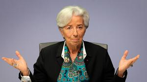 European Central Bank president Christine Lagarde has said the threatened recession will be twice as bad as what followed the 2008 banking and economic collapse. Photo: DANIEL ROLAND/AFP via Getty Images