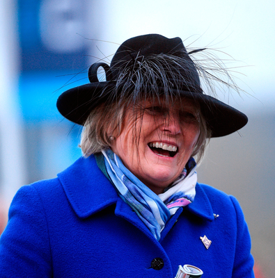 Trainer Jessica Harrington in the winners' enclosure. Photo: Sportsfile