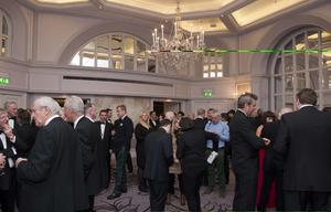 Guests attend a Ronan O'Gara Testimonial Dinner in The Park Lane Hilton in Central London. Photographer: Will Oliver