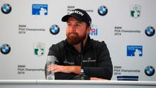 Ireland's Shane Lowry of Ireland is pictured at a press conference during practice for the BMW PGA Championship at the Wentworth Club on September 17, 2019 in Virginia Water, United Kingdom. Photo: Andrew Redington/Getty Images
