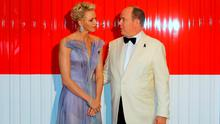 Prince Albert II of Monaco and Princess Charlene arrive to attend the 68th annual Red Cross Gala