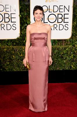 BEVERLY HILLS, CA - JANUARY 11: Actress Maggie Gyllenhaal attends the 72nd Annual Golden Globe Awards at The Beverly Hilton Hotel on January 11, 2015 in Beverly Hills, California.  (Photo by Jason Merritt/Getty Images)