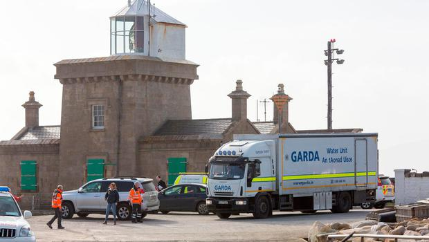 The Garda Water Unit arriving at Blacksod Lighthouse for the search for the missing crew of The Coast Guard Helicopter. PIC COLIN O'RIORDAN