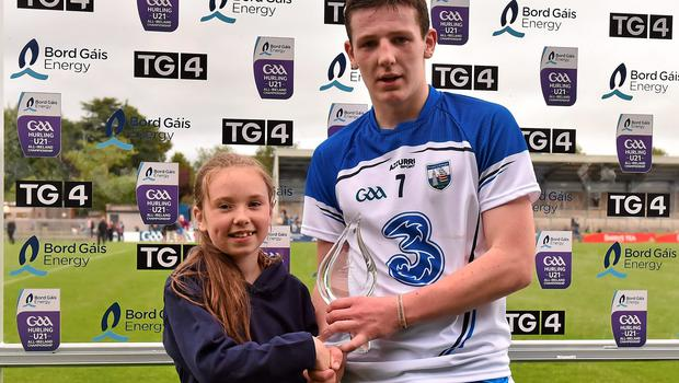 Waterford's Shane Bennett wins the Man of the Match award hours after finishing a Leaving Cert exam