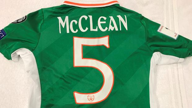 James McClean is wearing the number 5 tonight in honour of the late Ryan McBride