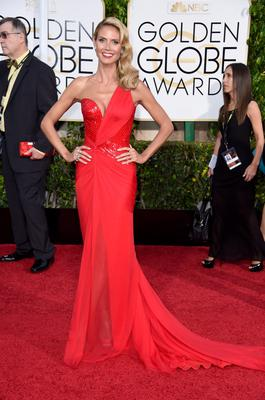 BEVERLY HILLS, CA - JANUARY 11:  TV personality Heidi Klum attends the 72nd Annual Golden Globe Awards at The Beverly Hilton Hotel on January 11, 2015 in Beverly Hills, California.  (Photo by Frazer Harrison/Getty Images)