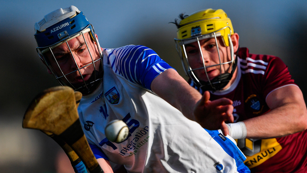 Stephen Bennett of Waterford in action against Aaron Craig of Westmeath. Photo by Piaras Ó Mídheach/Sportsfile